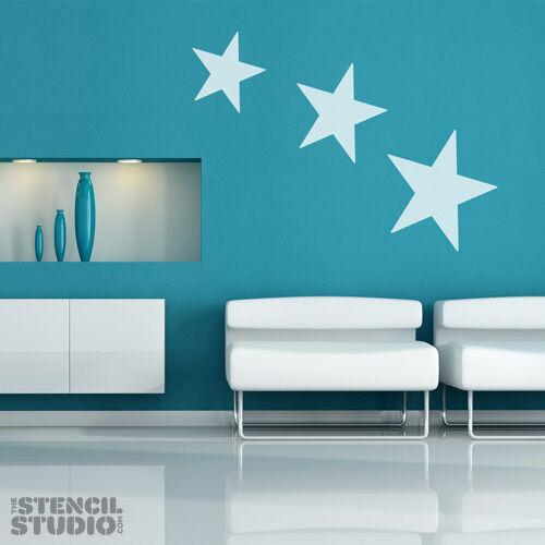 Stencil for Home Decor STAR STENCIL reusable wall stencil choose a size 10380