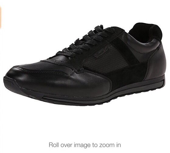 New Kenneth Cole Can't Miss It Leather Shoes Black 8.5M
