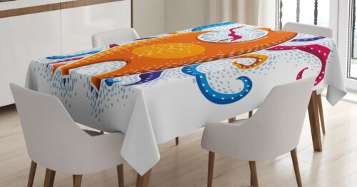 Ambesonne Colorful Element Tablecloth Table Cover for Dining Room Kitchen