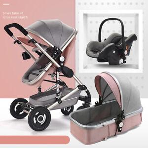 Baby-carrozzina-neonato-Buggy-3-in-1-Auto-Seggiolino-Culla-Portatile-Passeggino-Combi-Travel-System