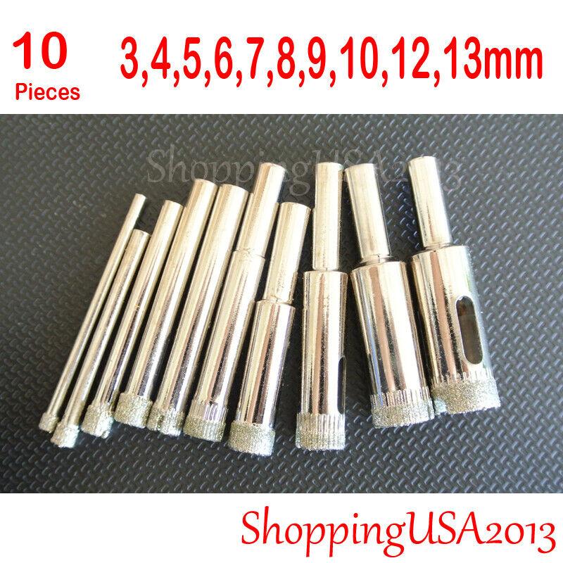 4Pcs 60//80//100//120 Mm Diamond Hole Saw Tile Set Drill Bit For Ceramic Glass