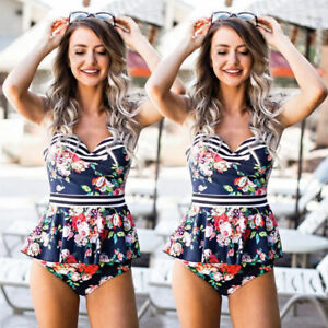 Women-039-s-One-Piece-Bikini-Push-up-Padded-Bra-Swimsuit-Bathing-Swimwear-Beachwear