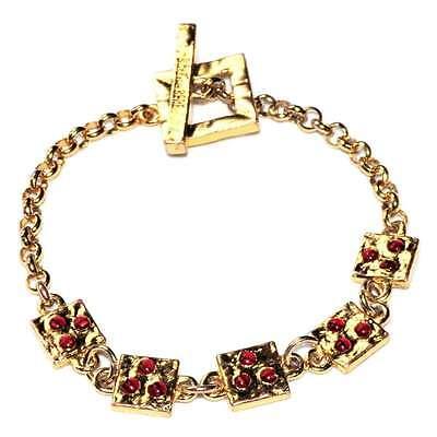 Biche De Bere Bracelet Original Couleur Or Perle Rouge 22cm Bijou Fresco In Estate E Caldo In Inverno