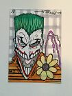 Batman Joker rare original comic art card 1/1 signed by Tom Kelly