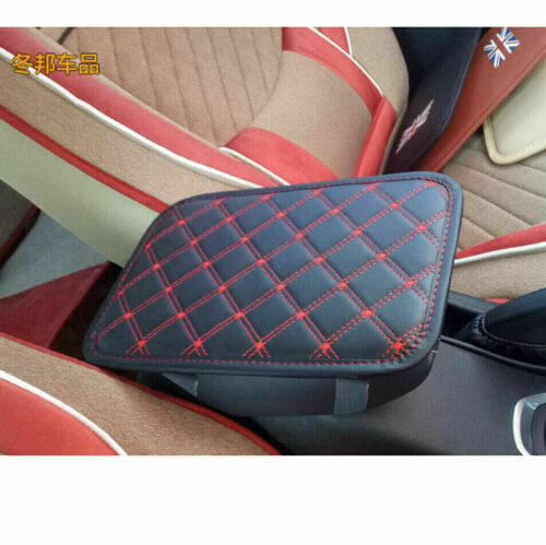 1X Universal Car Black Red Line Center Console Box Cushion Armrest Pad Cover