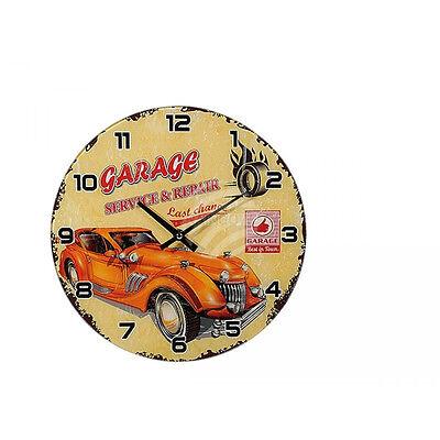 Volitivo Orologio Da Parete In Vetro 30cm Cucina Designer Orologio-garage California Riders Las Vegas-mostra Il Titolo Originale Design Moderno