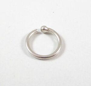 vintage sterling silver unique etched hoop nose ring