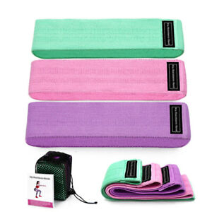 Fabric Resistance Bands Hip Circle Glutes Booty Butt Exercise Loop Set Women Men