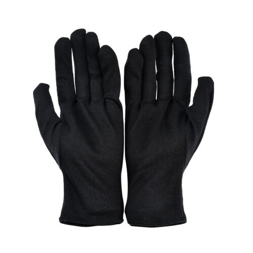 Baumwollhandschuhe Stretchhandschuhe Schmuckhandschuhe Servierhandschuhe Schwarz