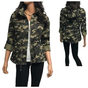 ce64f350b8faf Image is loading Women-039-s-Utility-Anorak-Military-Camo-Hooded-