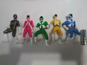 Power Rangers Lightspeed Rescue Figures 3.5 Blue Yellow Green Pink Gray lot of 6