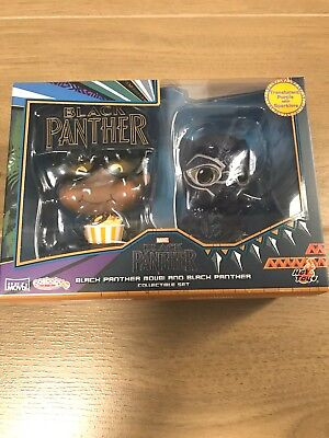 COSB534 Crouching Hot Toys Black Panther Bobble Head Cosbaby BNIB Mint