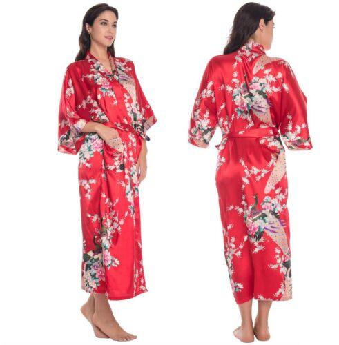 Silk Satin Kimono Robes Dressing Gown Wedding Bridesmaid Robe ...