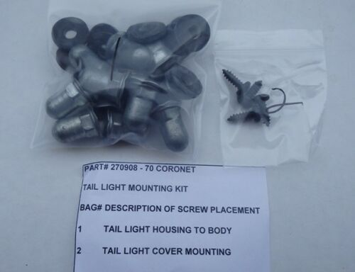 Mopar Tail Lens and Housing Mounting Kit Set 70 Coronet 270908