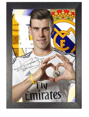 Gareth Bale Real Madrid 2013 Signed Welsh Football Player Poster Sport Star