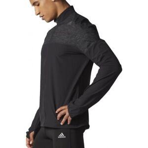 Details about Adidas Men's Supernova Storm Running Jacket Black AA5598