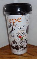 Pepe' Le Pew Travel Mug. 16 Oz Name Logo Tumbler Mug. Looney Tunes. Penelope