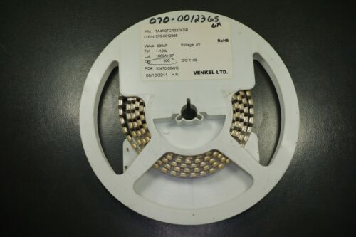 Lot of 5 TA4R0TCR337KDR Venkel Capacitor Tantalum 330uF 10/% 4V D Case 7343-31