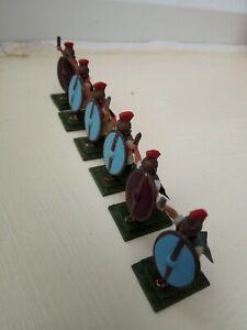 Figure-in-metallo-giochi-di-guerra-x-6-SOLDATI-ROMANI-25mm