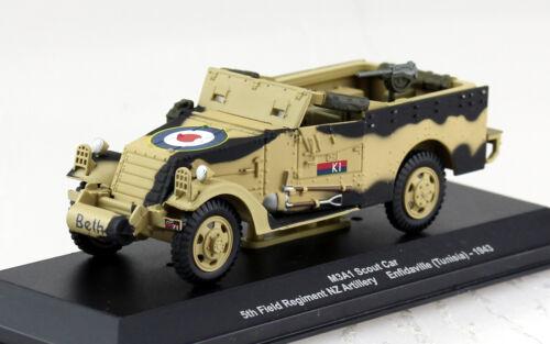 M3A1 Scout Car Militär Tunesien 1943 1:43 Altaya Modellauto