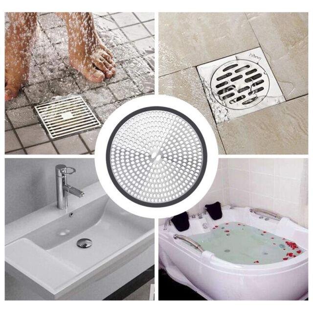 Bathtub Kitchen Sink Strainer Stainless Steel Drain Hair Catcher Bathroom 3 Of