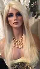 Chic, Long, Platinum Blonde, Lace Front With Side Part, Heat Friendly Wig!