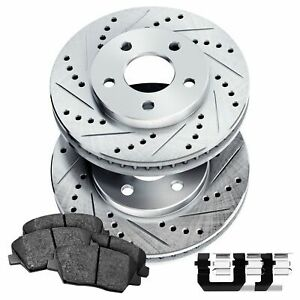 With Two Years Manufacturer Warranty Front Disc Brake Rotors and Ceramic Brake Pads for 2015 Kia Sorento No Hardware Included For Brake Pads