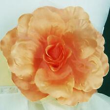 Rose Satin Fabric Lady Woman Wedding Flower Girl Dress Pin Brooch MANY COLORS