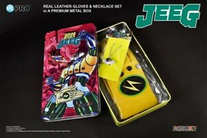 -=]HIGH DREAMS - Jeeg Robot Metal Box  Hiroshi Guanti + Collana Set TAGLIA M[=-