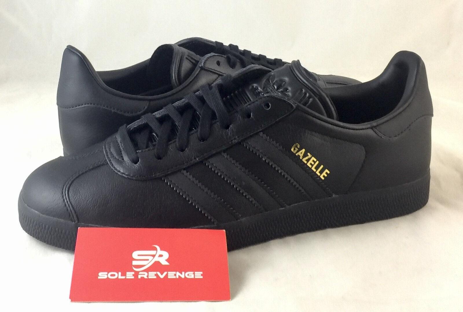 8 NEW adidas GAZELLE Black Metallic gold BB5497 x1