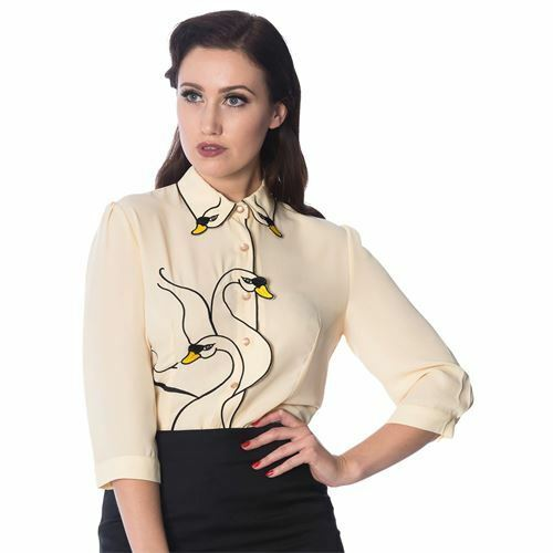 Dancing Days by Banned Bluse Swan Lake Shirt 1317