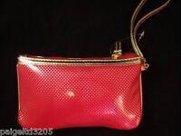 Phone Wallet / Case / Wristlet / Make-up Case - Polka Dot Gold / Red