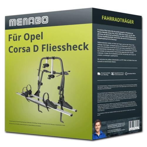 Menabo Fahrradträger Polaris 2 für Opel Corsa D Fliessheck Typ S07-2 Räder NEU