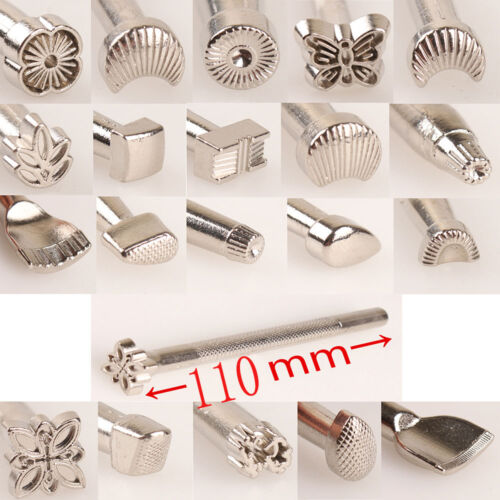 Deluxe Leather Carving Swivel Knife Blade Set / 20pcs Craft Saddle Stamp Tools