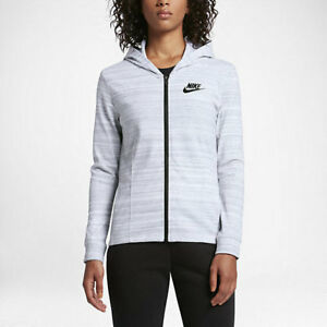 1abd4ff1877e NIKE Women s Sportswear Advance 15 Jacket NEW AUTHENTIC White 837458 ...