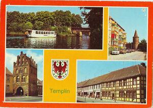 Alte-Ansichtskarte-Postkarte-Templin-Mehrbild-1984-farbig