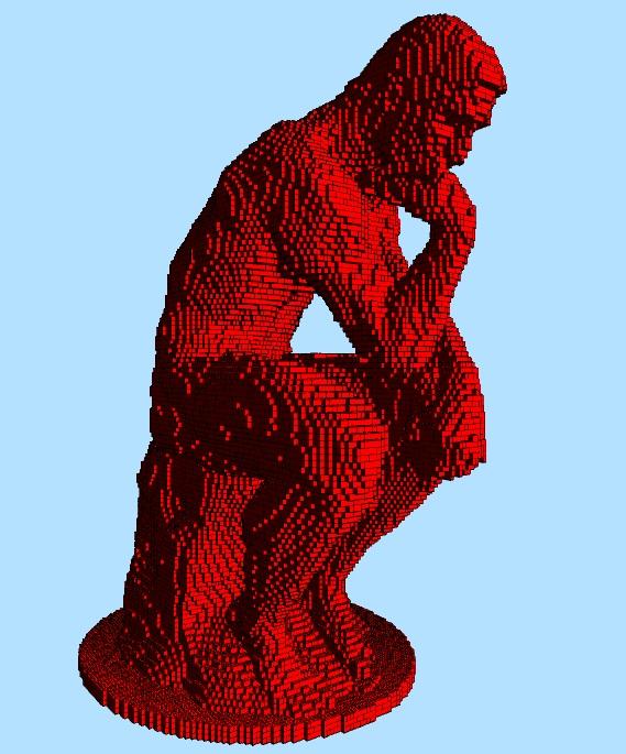 Instrucciones de construcción Lego El Pensador Escultura