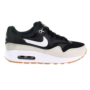 conocido pozo Huérfano  Nike Air Max 1 Big Kids' Shoes Black-White-Light Bone-Gum Med Brown  807602-011 | eBay