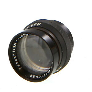 Vintage Carl Zeiss Jena 10.5cm (105mm) f/3.5 Tessar Barrel Lens - UG