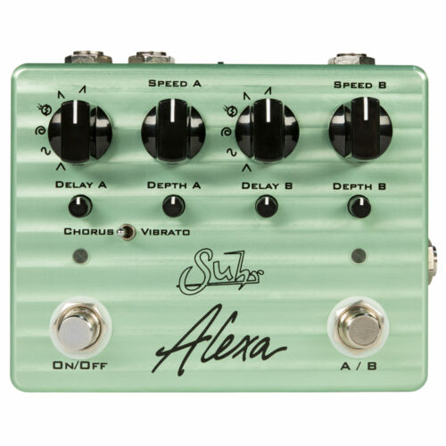 Suhr Alexa Multi-Wave Dual Channel Analog Chorus Guitar Effects Pedal Stompbox