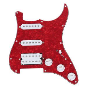Pickguard-precablato-caricato-per-la-chitarra-elettrica-Rosso-L5A2