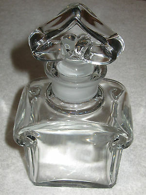 "6 1/2"" Ht Liberal Vintage Guerlain Baccarat Signed Display Perfume Bottle 8 Oz #3"