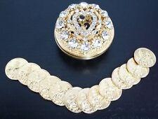NEW Wedding Ceremony Gold Rhinestone Heart Arras de Boda 13 Church Unity Coins