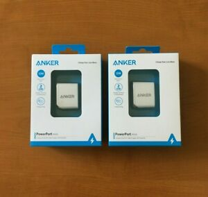 ANKER-POWERPORT-MINI-COMPACT-12W-DUAL-PORT-2-USB-WALL-CHARGER-POWER-IQ-LOT-OF-2