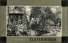 Elsterwerda Brandenburg alte Postkarte 1912 gelaufen Partie aus dem Stadtpark