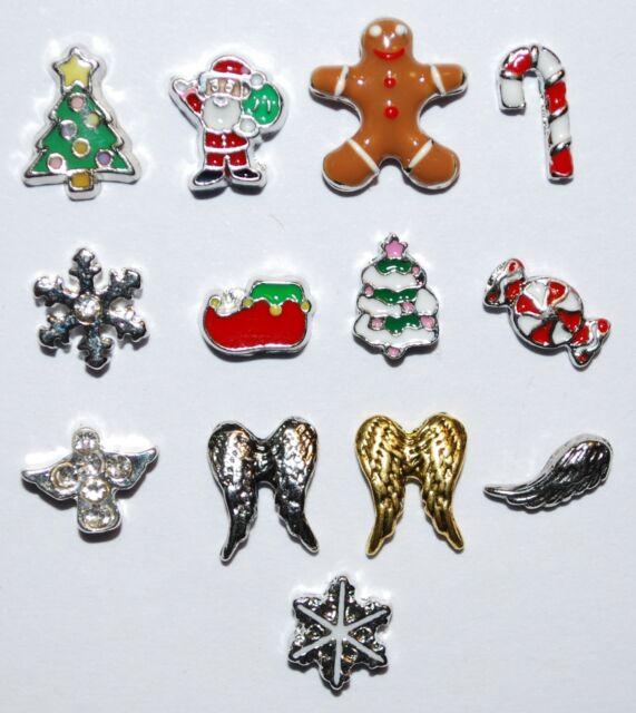 Floating Charm Memory Locket Living Christmas Santa Winter Halloween Thanksgivin