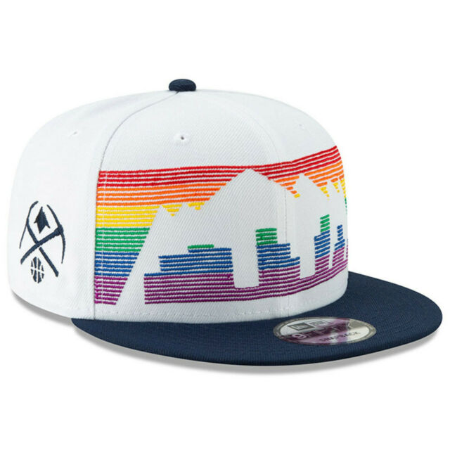brand new 9ac02 68c82 Denver Nuggets New Era 9FIFTY NBA City Edition Snapback Cap Hat Rainbow  Series