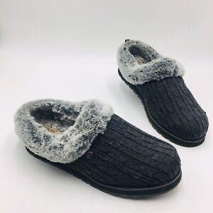 Disfraz Alfombra de pies insecto  Skechers de Mujer Suéter de punto imitación piel de ángel de hielo Slipper  Talla 10M, Carbón   eBay
