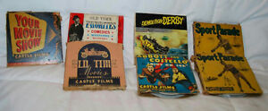 LOT OF 7 VINTAGE 8MM DEMOLITION DERBY, YESTERDAY LIVES AGAIN, SPORTS PARADE FILM
