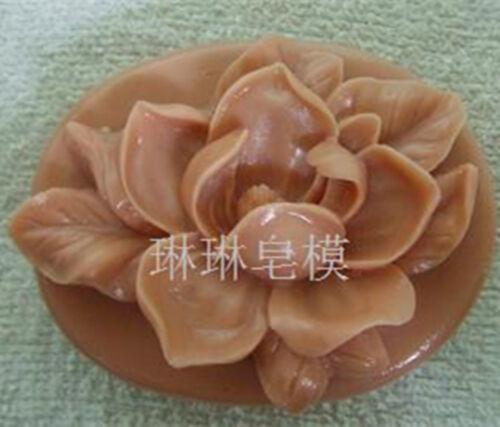 Molde de Silicona Flor Molde Oval Artesanal Gardenia Jabón Jabón Vela molde de resina